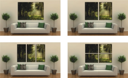 Available formats for canvas print
